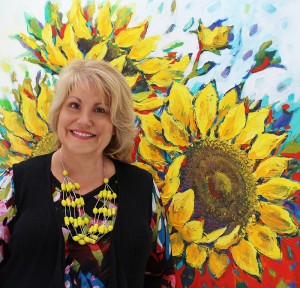 Photo of Tracey with Sunflowers retouched