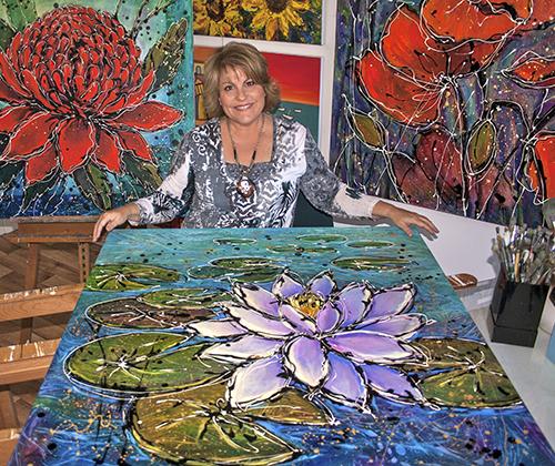 Tracey Creighton in her studio